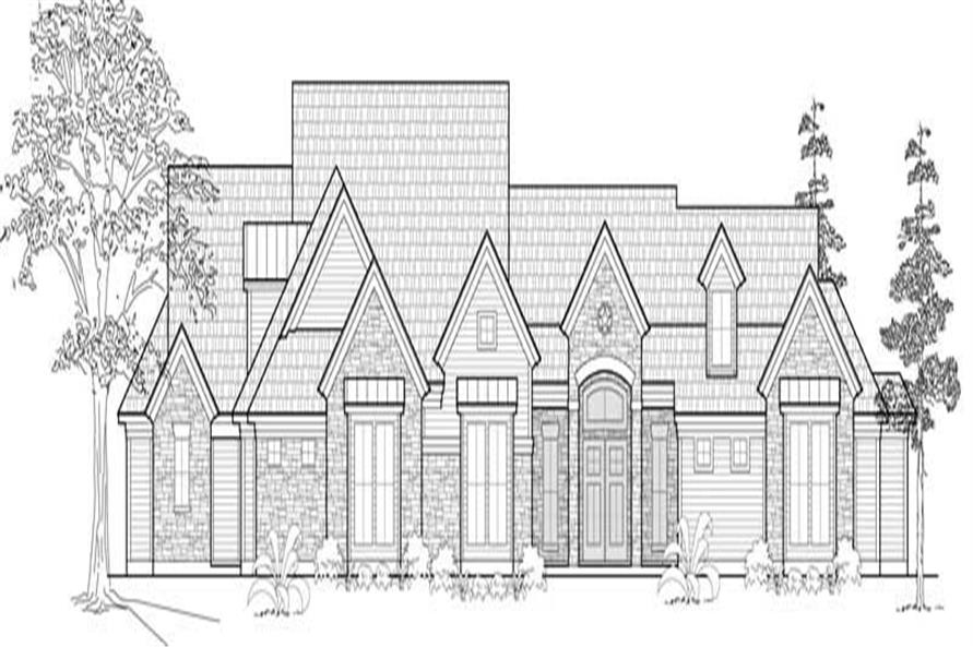 Front elevation of Farmhouse home (ThePlanCollection: House Plan #134-1032)