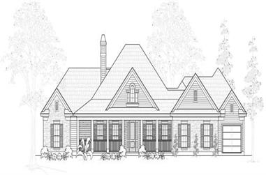 3-Bedroom, 3057 Sq Ft Country House Plan - 134-1036 - Front Exterior