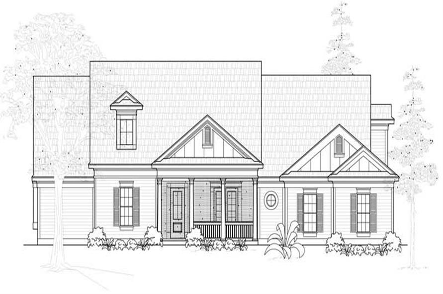 4-Bedroom, 3246 Sq Ft Country Home Plan - 134-1037 - Main Exterior