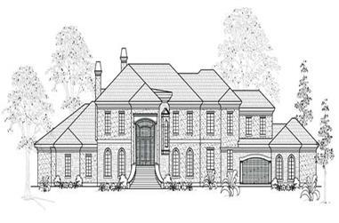 5-Bedroom, 8275 Sq Ft European House Plan - 134-1038 - Front Exterior