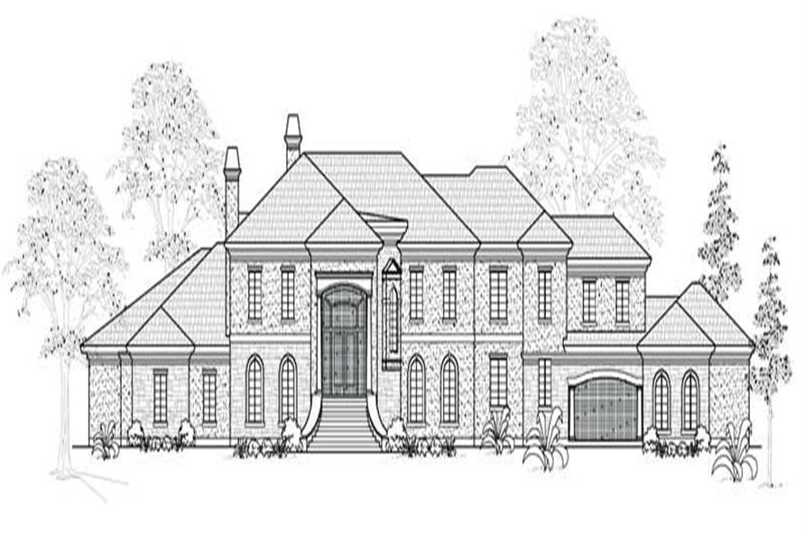 5-Bedroom, 8275 Sq Ft European House Plan - 134-1038 - Front Exterior