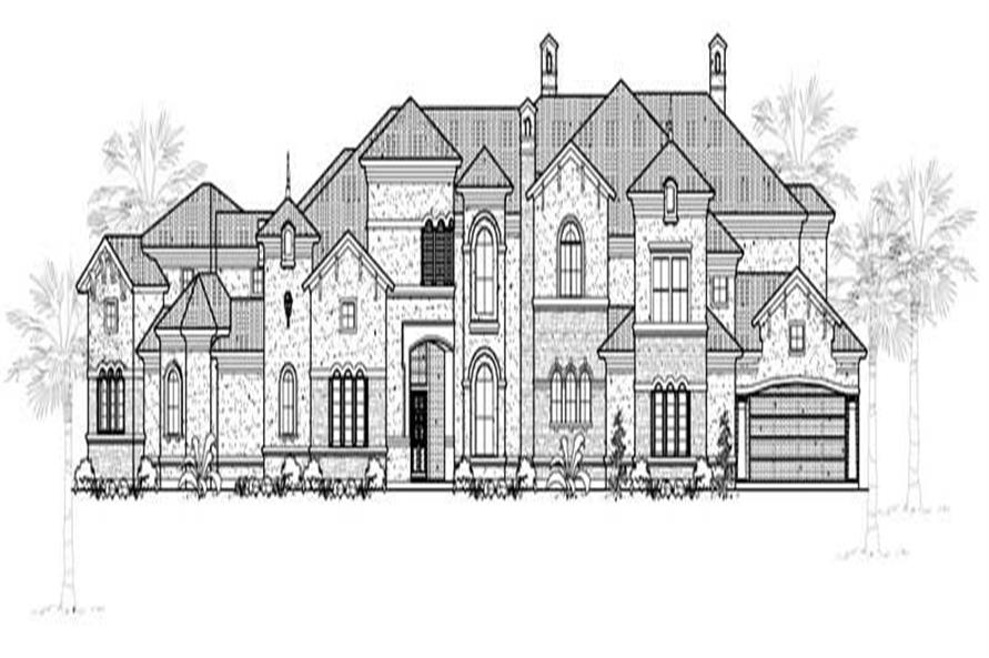 5-Bedroom, 7783 Sq Ft Mediterranean House Plan - 134-1039 - Front Exterior