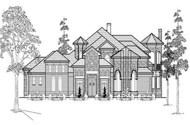 3-Bedroom, 7546 Sq Ft Mediterranean House Plan - 134-1040 - Front Exterior