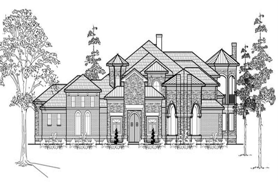 3-Bedroom, 7546 Sq Ft Mediterranean House Plan - 134-1040 - Front Exterior