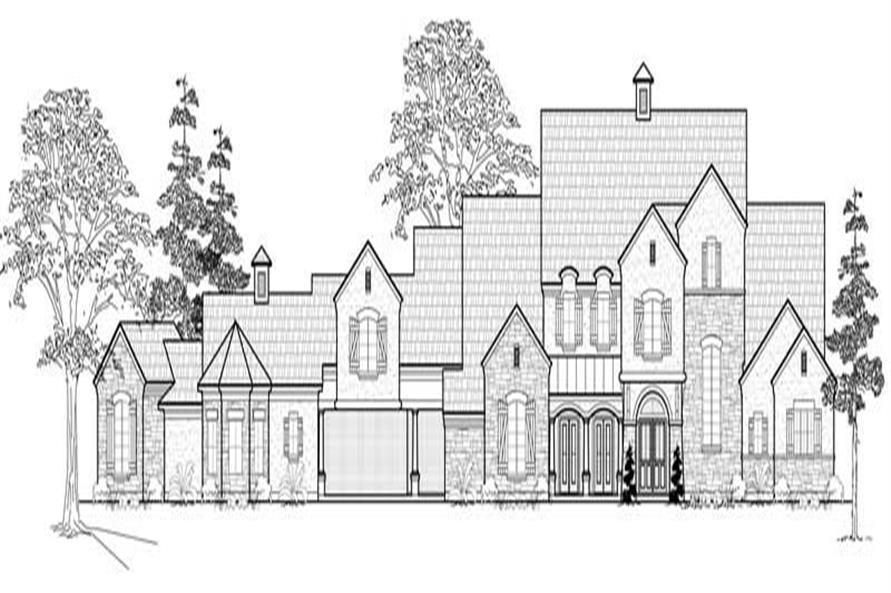 134-1041: Home Plan Front Elevation