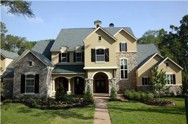 4-Bedroom, 5881 Sq Ft Traditional House Plan - 134-1041 - Front Exterior