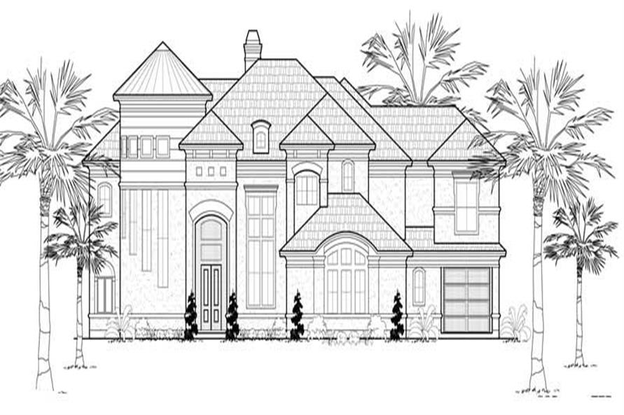 5-Bedroom, 5640 Sq Ft Mediterranean House Plan - 134-1042 - Front Exterior