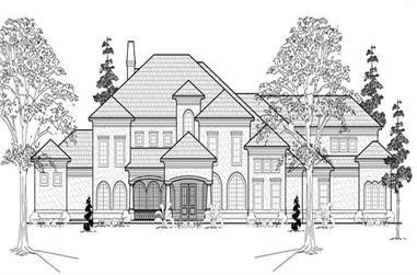 7-Bedroom, 7330 Sq Ft Mediterranean House Plan - 134-1048 - Front Exterior