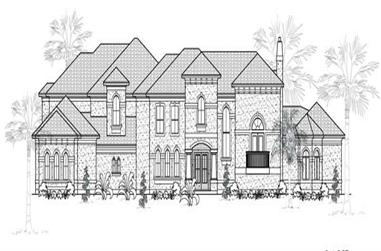 5-Bedroom, 7070 Sq Ft Mediterranean House Plan - 134-1050 - Front Exterior