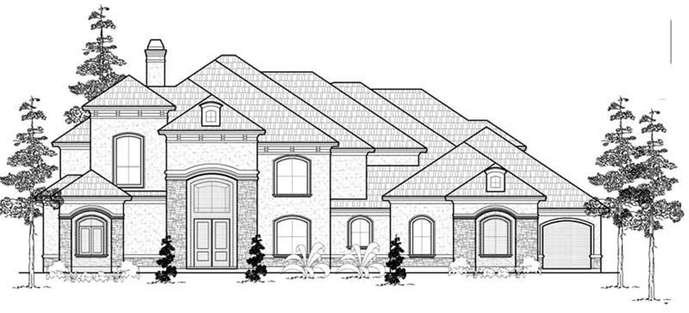 Luxury home (ThePlanCollection: Plan #134-1052)