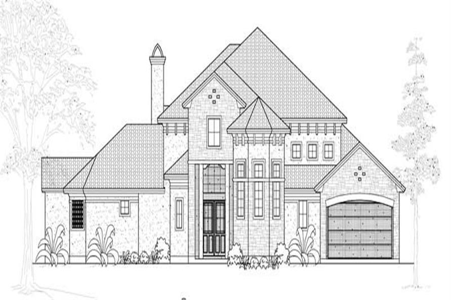 3-Bedroom, 3782 Sq Ft Mediterranean House Plan - 134-1053 - Front Exterior
