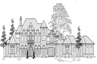 5-Bedroom, 6253 Sq Ft Luxury House Plan - 134-1054 - Front Exterior