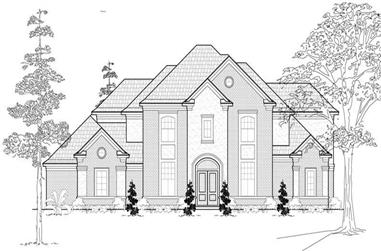 4-Bedroom, 4226 Sq Ft Luxury House Plan - 134-1055 - Front Exterior