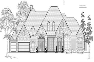 4-Bedroom, 4914 Sq Ft Luxury Home Plan - 134-1058 - Main Exterior