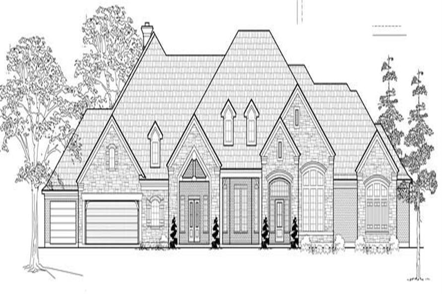 4-Bedroom, 4914 Sq Ft Luxury Home Plan - 134-1058 - Main Exterior