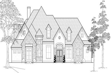 4-Bedroom, 4299 Sq Ft Luxury House Plan - 134-1060 - Front Exterior