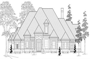 5-Bedroom, 5363 Sq Ft Luxury Home Plan - 134-1062 - Main Exterior