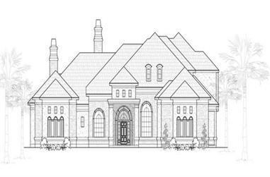 4-Bedroom, 5088 Sq Ft Mediterranean House Plan - 134-1064 - Front Exterior