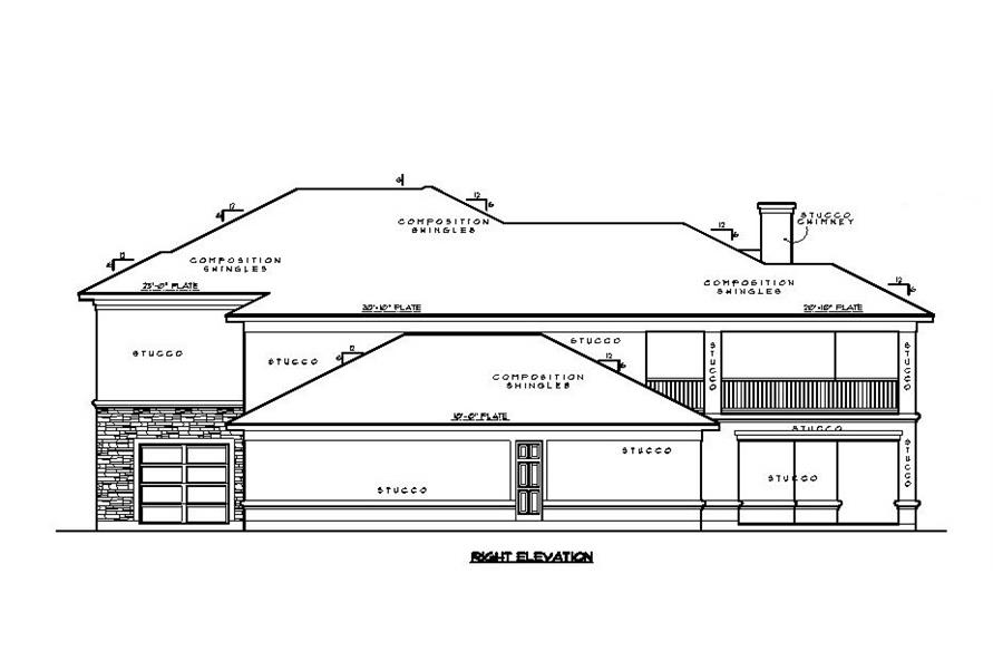 134-1067: Home Plan Right Elevation