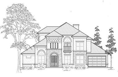 5-Bedroom, 4978 Sq Ft Mediterranean House Plan - 134-1067 - Front Exterior