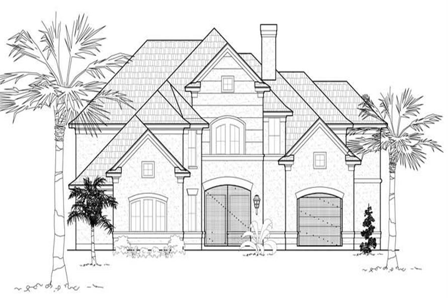 4-Bedroom, 4559 Sq Ft Luxury Home Plan - 134-1068 - Main Exterior