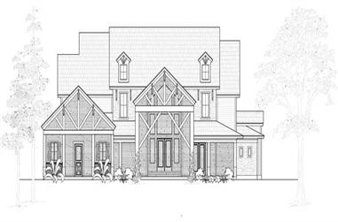4-Bedroom, 4897 Sq Ft Farmhouse House Plan - 134-1069 - Front Exterior