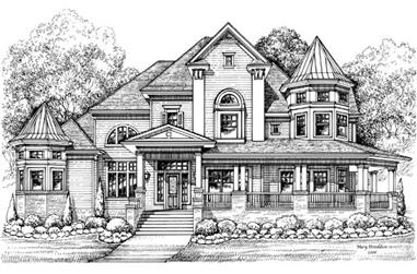 3-Bedroom, 4756 Sq Ft Victorian Home Plan - 134-1071 - Main Exterior