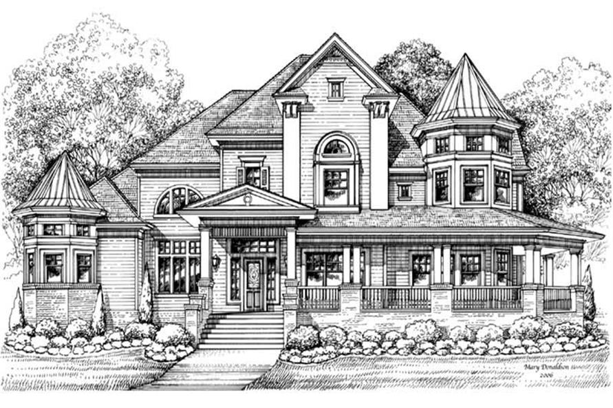 Victorian House Plans - Home Design GML-D-756 # 19255