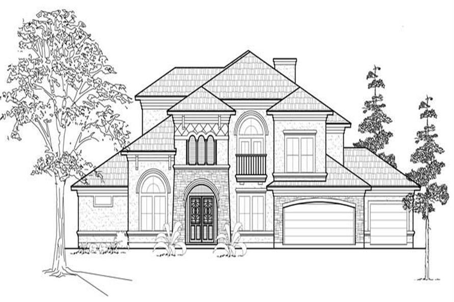 134-1075: Home Plan Front Elevation