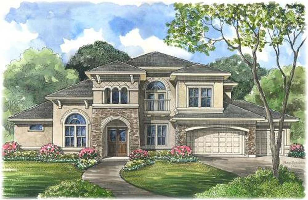 Beautiful image for house plan # 134-1075