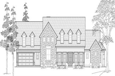 3-Bedroom, 3538 Sq Ft Country Home Plan - 134-1076 - Main Exterior