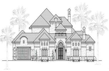4-Bedroom, 4984 Sq Ft Mediterranean Home Plan - 134-1077 - Main Exterior