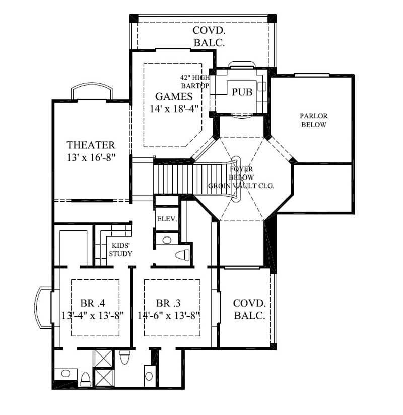 Mediterranean spanish house plans home design gml d for 1077 marinaside crescent floor plan