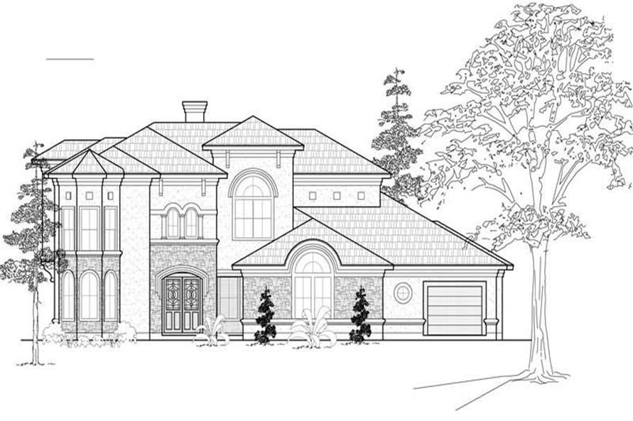 5-Bedroom, 4635 Sq Ft Mediterranean House Plan - 134-1078 - Front Exterior