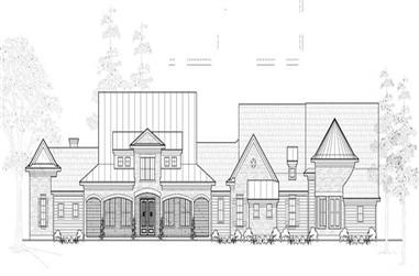 4-Bedroom, 5144 Sq Ft Farmhouse Home Plan - 134-1080 - Main Exterior