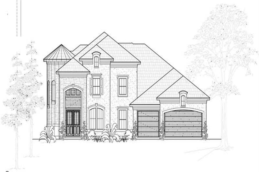 4-Bedroom, 4793 Sq Ft Mediterranean Home Plan - 134-1081 - Main Exterior