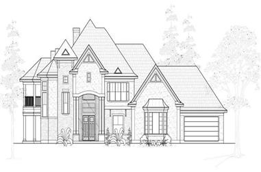 4-Bedroom, 4793 Sq Ft Luxury Home Plan - 134-1082 - Main Exterior