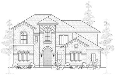 5-Bedroom, 4722 Sq Ft Mediterranean Home Plan - 134-1083 - Main Exterior