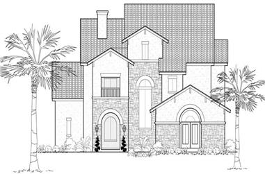 3-Bedroom, 3540 Sq Ft Mediterranean Home Plan - 134-1084 - Main Exterior