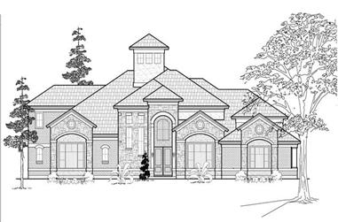3-Bedroom, 5405 Sq Ft Luxury Home Plan - 134-1085 - Main Exterior