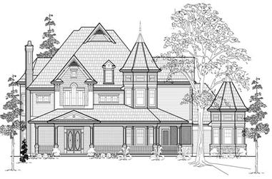 4-Bedroom, 5363 Sq Ft Colonial Home Plan - 134-1086 - Main Exterior