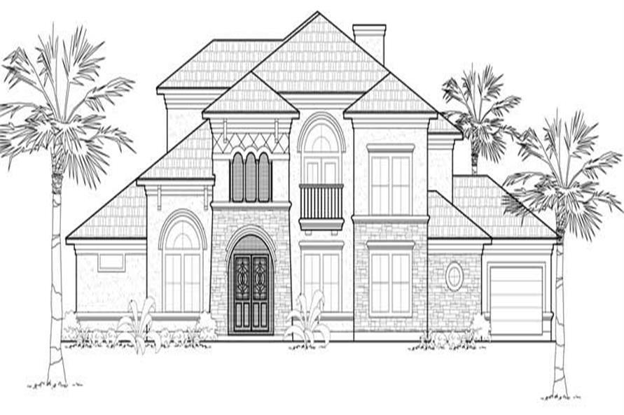 134-1087: Home Plan Front Elevation