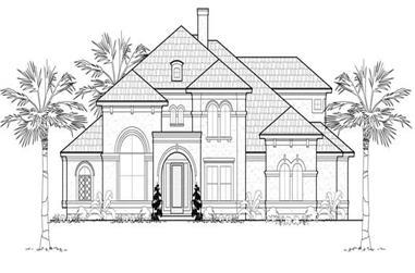 5-Bedroom, 4839 Sq Ft Mediterranean House Plan - 134-1088 - Front Exterior