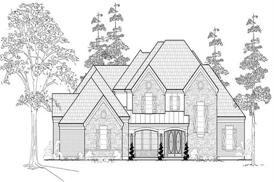 4-Bedroom, 4502 Sq Ft Farmhouse Home Plan - 134-1089 - Main Exterior