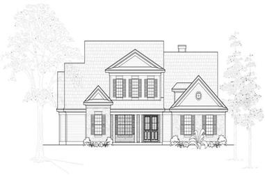 4-Bedroom, 4633 Sq Ft Country House Plan - 134-1090 - Front Exterior