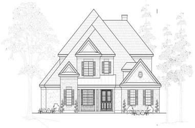 4-Bedroom, 4633 Sq Ft Luxury House Plan - 134-1091 - Front Exterior
