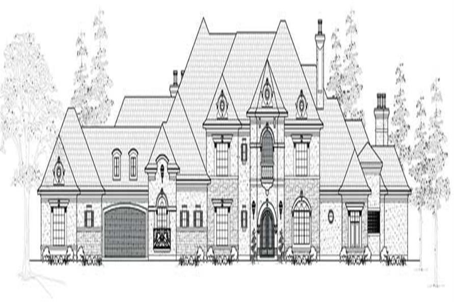 3-Bedroom, 5154 Sq Ft European Home Plan - 134-1094 - Main Exterior