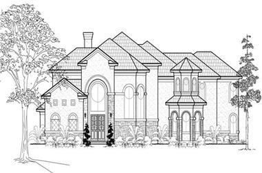 5-Bedroom, 5131 Sq Ft Mediterranean House Plan - 134-1095 - Front Exterior