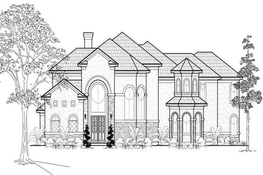 5-Bedroom, 5131 Sq Ft Mediterranean House Plan - 134-1095 - Front Exterior