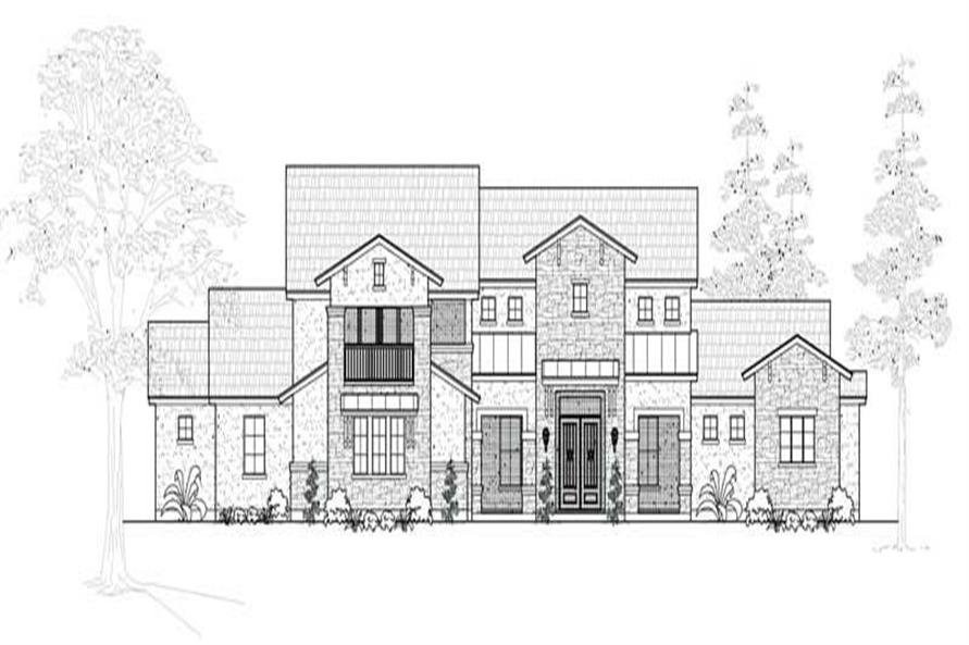5-Bedroom, 4882 Sq Ft Contemporary House Plan - 134-1096 - Front Exterior